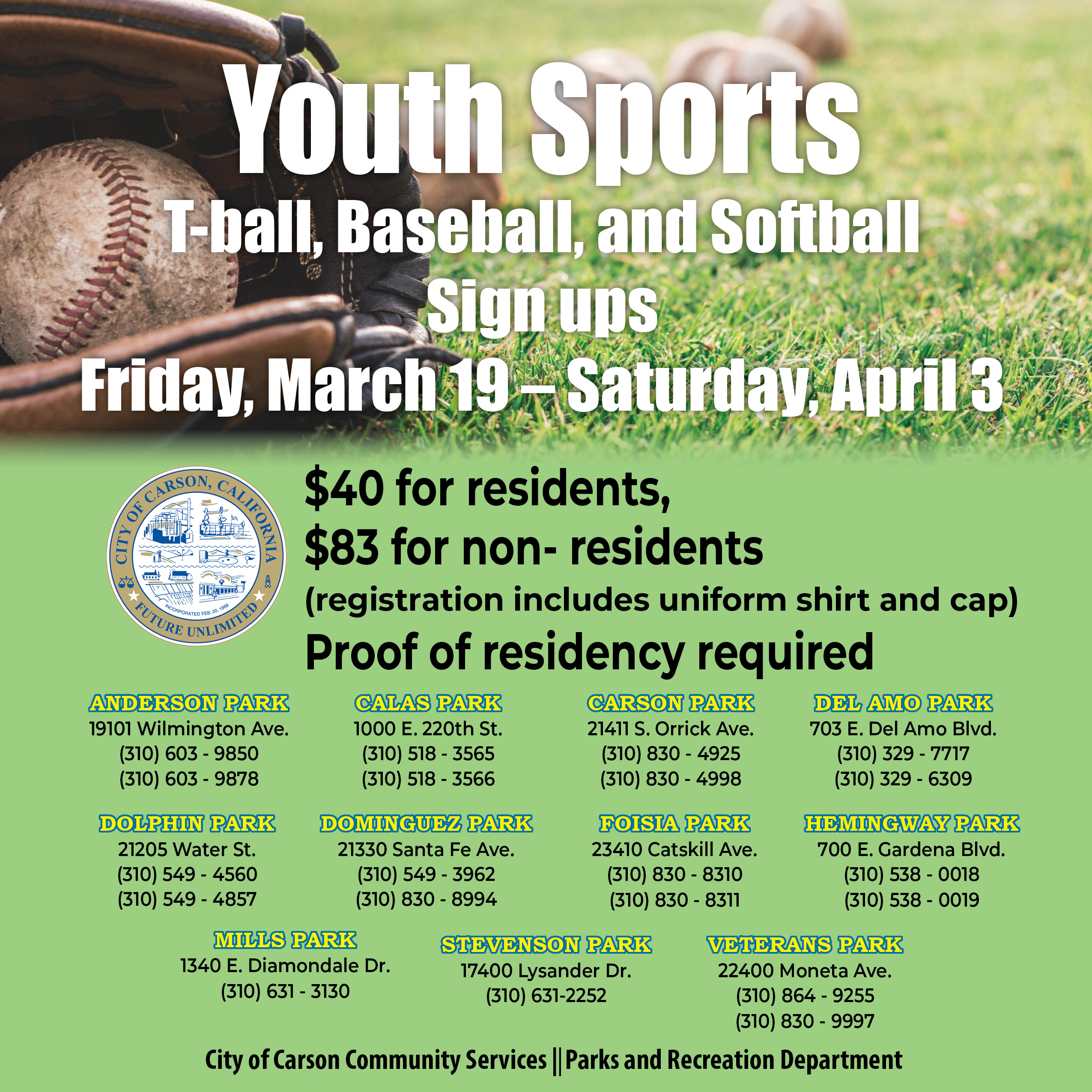 Youth Sports Sign up, click to view in original size