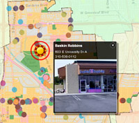 Interactive Online Restaurant Map