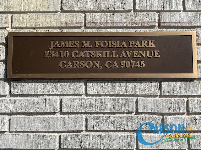 Park Name and Address Plaque by Main OFFICE OCT 2019