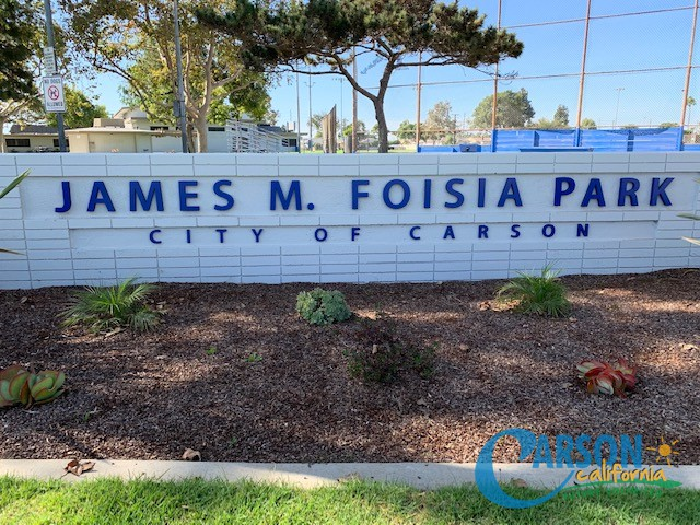 PARK NAME SIGN on WALL EAST PARK Area II OCT 2019