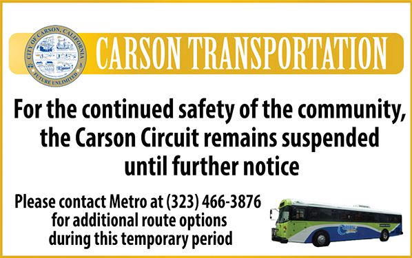 Carson Transporation Services Suspended